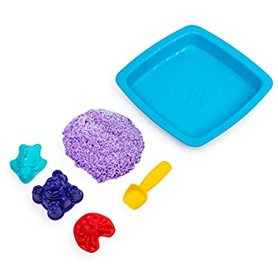 Kinetic Sand, Sandbox Playset with 1lb of Purple and 3 Molds, for Ages 3 and Up: Toys & Games
