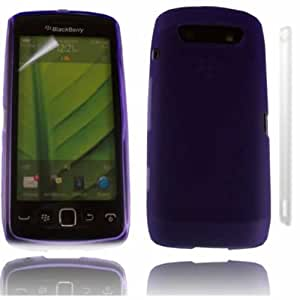 Gel Caso Cubrir Piel Y Protector De LCD Para Blackberry 9860 Torch / Purple Design