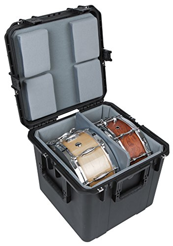 SKB iSeries 1717-16 Waterproof Utility Mulitple Snare Drum Case (padded liner) Mixer Accessory (3i-1717-16LT)