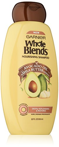 Garnier Whole Blends Nourishing Shampoo with Avocado Oil & Shea Butter Extracts, 22 Fluid Ounce - Nourishing Blend