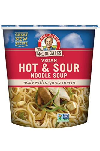 Facts Nutrition Pea Split Soup - Dr. McDougall's Right Foods Vegan Hot & Sour Ramen, 1.9 Ounce Cups (Pack of 6) Non-GMO, No Added Oil, Made w/ Organic Steamed Noodles, Paper Cups From Certified Sustainably-Managed Forests