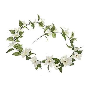 MARJON Flowers Poinsettia Christmas Garland Artificial White 78