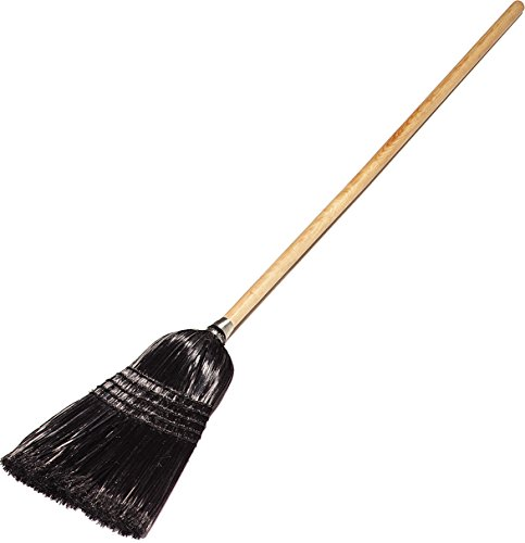 Carlisle 4168003 Maid/Parlor Brooms, Set of 12 (55-Inch, Synthetic Corn, Black)