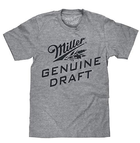 Tee Luv Miller Beer T-Shirt - Miller Genuine Draft Logo Shirt (Medium)