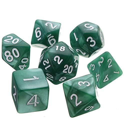 Oun Nana Polyhedral 7-Die Dice Set-Dark Green