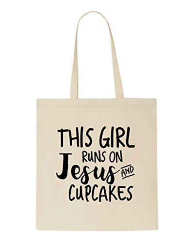 Religious Shopper Statement Girl Jesus Tote Cupcakes This Bag On Runs And Beige Yfwxxvqp