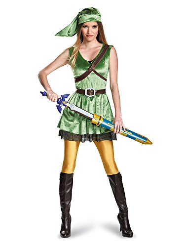 Disguise Women's Legend of Zelda Link Adult Costume, Green, Medium -
