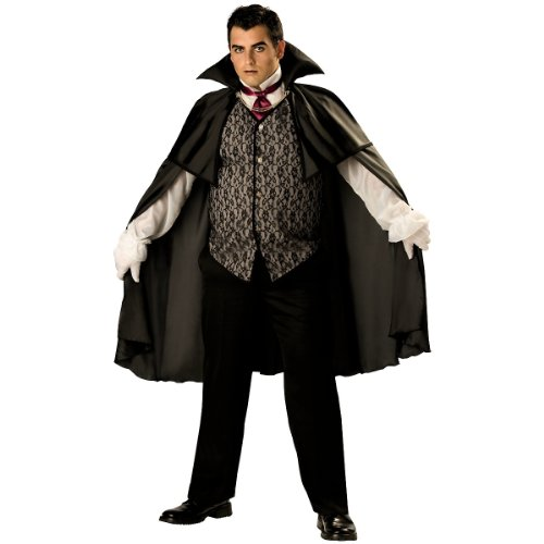 Midnight Vampire Adult Costume - (Plus Size Holloween Costume)