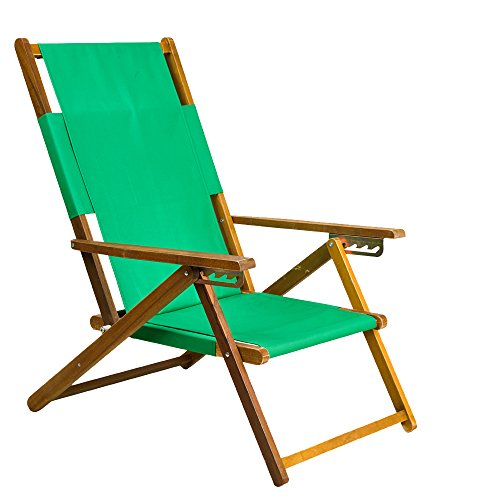 Green Outdoor Folding Chairs - APEX LIVING Portable Patio Wooden Beach Folding Adjustable Chair Commercial Indoor and Outdoor Chaise Lounger Green