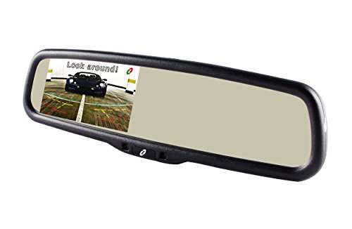 Tft Lcd Display Panel Mount - Gazer MM703 Original Car Auto Dimming Rearview Mirror with 4.3 Inch 1000 cd/m2 TFT Auto LCD Screen/Dual Video Inputs/Integrated Mount for Car Backup Camera/Dash Cam/DVD/GPS