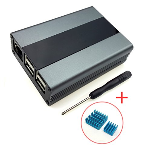 Raspberry Pi Metal Gehäuse Case for Pi 3,Pi 2,B+ mit Kühlkörper Skygray