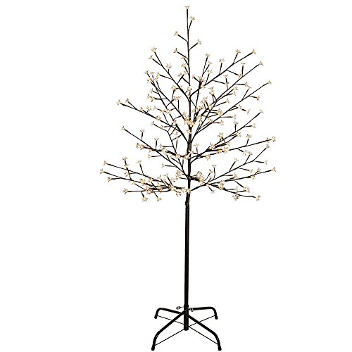 -[ WeRChristmas 5 ft/1.5 m Pre-Lit Illuminated Cherry Blossom Tree with 200-LED - Warm White  ]-