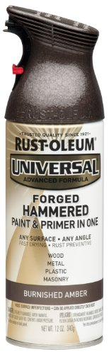 Rust-Oleum 271480 Universal All Surface Spray Paint, 12 oz, Forged Hammered Burnished Amber