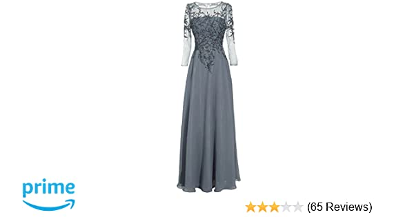 b89fadf9ba Meier Women s Starlit Beaded Long Sleeve Mother of The Bride Evening Gown  at Amazon Women s Clothing store
