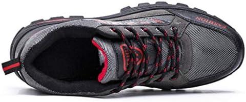 靴軽量ノンスリップトレッキングキャンプトレイルランニングシューズウォーキングのためのアウトドアスニーカーを (Color : Gray, Size : 8.5UK)
