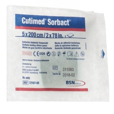 2356198 Gauze Ribbon Cutimed Sorbact 2x80quot; 10 Per Box Sold as Box Pt# 7216700 by BSN Medical, Inc by BSN Medical