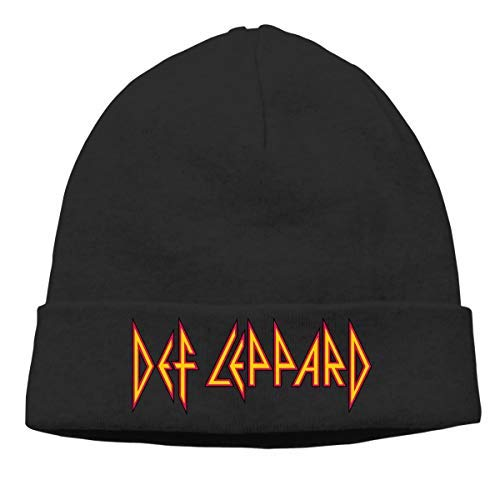 DHNKW Def Leppard Skull Hats Knitted cap Beanie Black