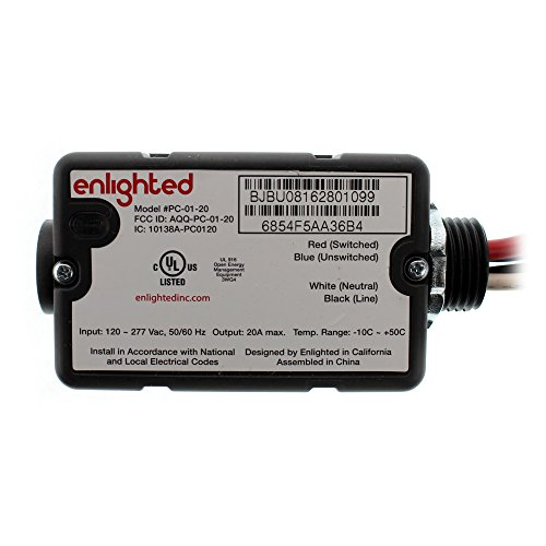 Enlighted Lighting PC-01-20 Max-Plug Load Controller, 120/277V, 20A, 4-Wire by Enlightened Lighting