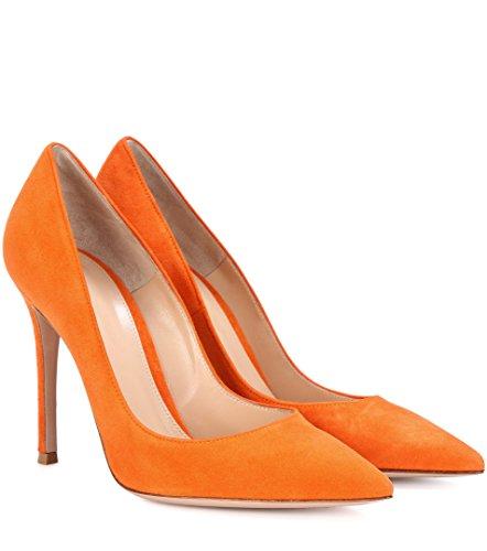 High Davanti Scarpe Arancione Elegante A 10 Tacco Cm Chiuse Heels Donna Edefs Spillo Col qgXw1xSqZ