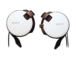 Sony Clip-on Stereo Headphones with Retractable | MDR-Q38LW W White