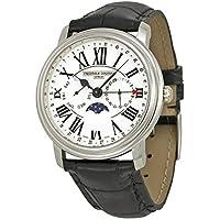 Frederique Constant FC270M4P6 Classics White Dial Leather Strap Men's Watch