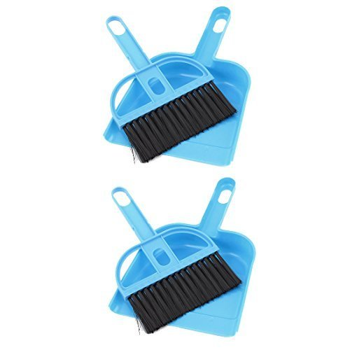 Tastatur Air Outlet Vent Reiniger Kehrbürste Kehrschaufel 2Sets Blau