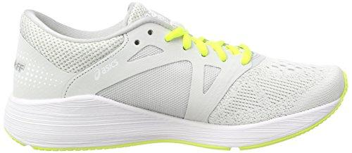 Asics Women's Roadhawk Ff Training Shoes, Grey Multicolor (Glacier Greyblacksafety Yellow)
