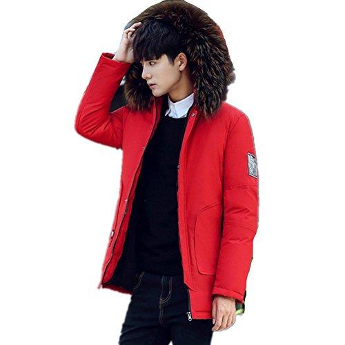 da Xl Winter Down Coat Mhgao lungo Fashion uomo casual Cappotto Rosso 7wPqvx07