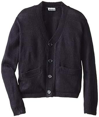 Genuine Little Boys' Long Sleeve Classic V-Neck Cardigan Sweater, Navy, 4