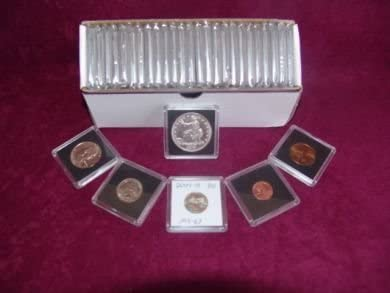 LOT OF 10 BCW 2X2 COIN SNAP DOLLAR BLACK PREMIUM LONG-TERM STORAGE SNAPS