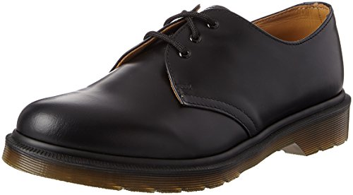 Dr. Martens 1461 Pw Black Smooth, Unisex-Adult Lace-up Black Smooth