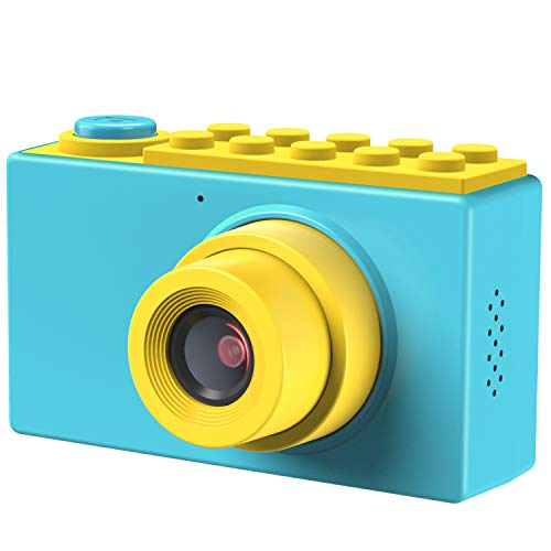 TURN RAISE Kids Camera Toys Gifts for 3~10 Years Old Girls,Shockproof Kids Camera Mini Toddler Digital Camcorders with Soft Silicone Shell for Outdoor Play, Blue