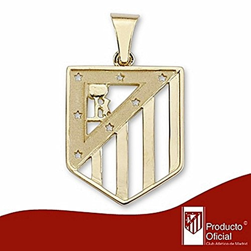 Atletico Madrid pendentif bouclier sterling 18k 30x21mm d'or. [6990] - Modèle: 20-161
