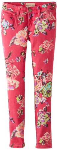 Roxy Big Girls' RG Skinny Rails, Hot Fuchsia Floral, 12