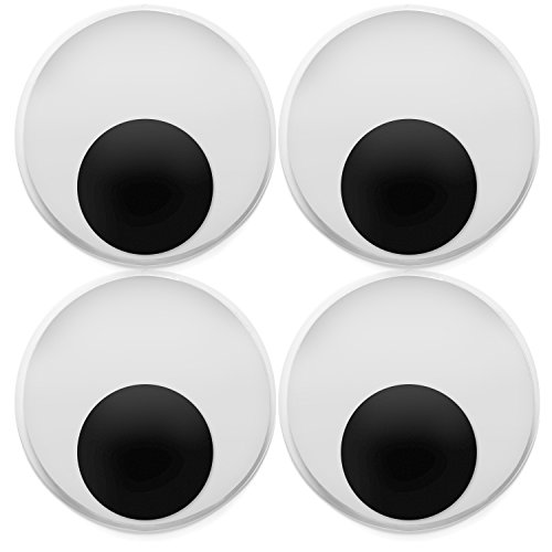 8 Pack Large 4 Inch Jumbo Googly Eyes - Big Wiggle Eyes for Crafting ()