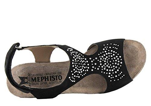 6 Mujer 6960 Warm Mephisto Sandalias Bucksoft Spark Grey Black Jodie Bucksoft 0qwx1Zwz