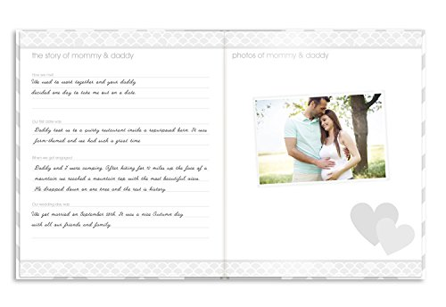 Pearhead First 5 Years Chevron Baby Memory Book With Clean