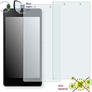 2 x Película de protección de pantalla DISAGU ClearScreen para Sony Xperia D6543 antibacterial, filtro BlueLightCut película de protección