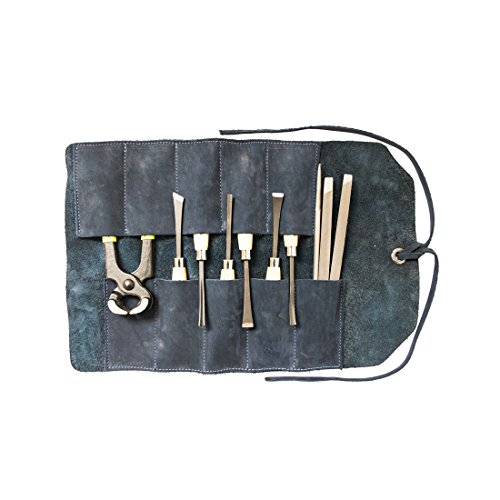 Small Tool Roll Handmade by Hide  Drink :: Blue Suede