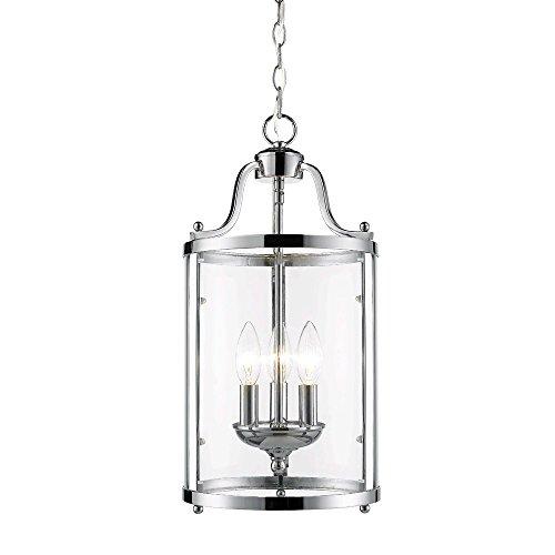 Chrome Lantern Pendant Light in US - 9