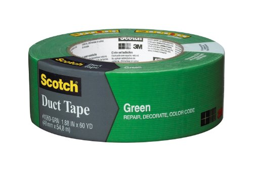 3M Scotch Duct Tape,  1.88-Inch by 60-Yard - Green, 1 Pack by 3M