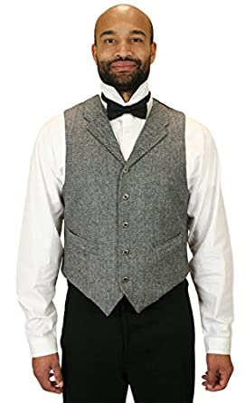 Men's Vintage Vests, Sweater Vests Herringbone Tweed Vest $72.95 AT vintagedancer.com