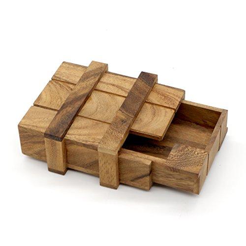 Price comparison product image BSIRI The Magic Box Money Gift Puzzle Brain Teaser Wood Box