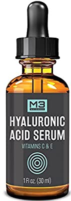 Premium Hyaluronic Acid Serum for Skin with Vitamin C & E for Face, Anti-Aging Topical Facial Serum, 1 fl oz