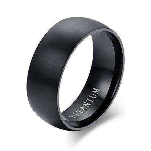 Wensltd Clearance! Fashion Men Titanium Ring Black Wedding Rings For Men And Women (#7, Black)