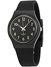GB274 Golden Tac Black Gold Analog Dial Silicone Strap Unisex Watch NEW