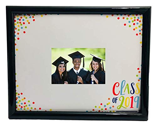 (Graduation Class of 2019 Black Photo Frame with 11x14 inch Signature Mat and Autograph Pen)