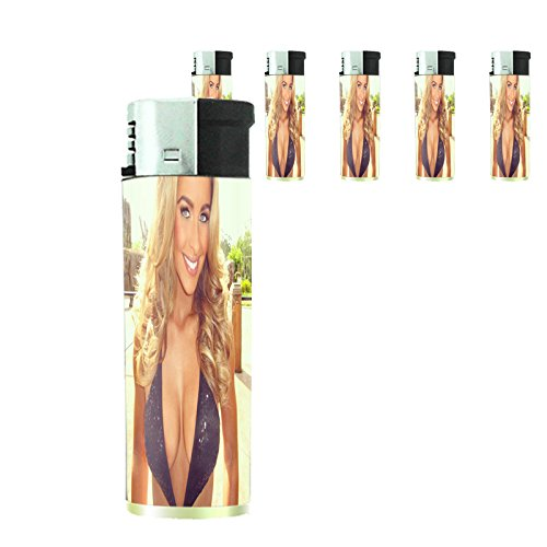 Australian Bikini Model Lighters S1 Set of 5 Electronic Refillable Flame Cigarette Smoking Sexy Australia