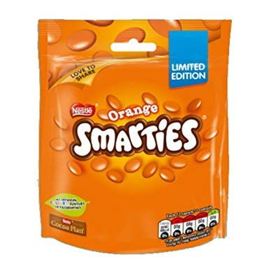 Smarties Orange Milk Chocolate Sweets Sharing Bag 112g