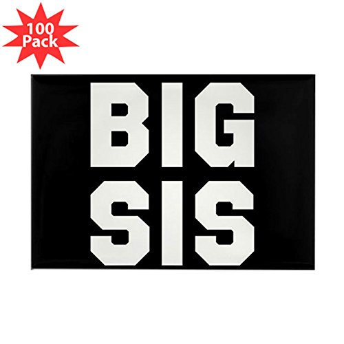 CafePress - Big Sis Full Bleed - Rectangle Magnet (100 pack) by CafePress